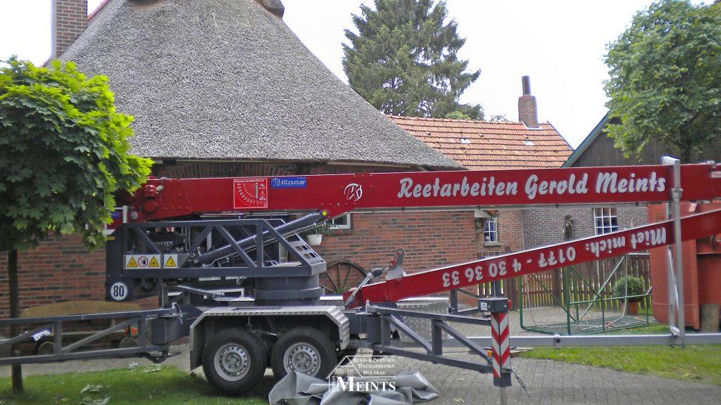 Kran Verleih Naturreet Reetbedachung Ammerland Dachdecker Bad Zwischenahn 01